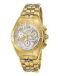 TechnoMarine Men's TechnoMarine Gold-Tone Steel Bracelet & Case Swiss Quartz White Dial Watch 115196