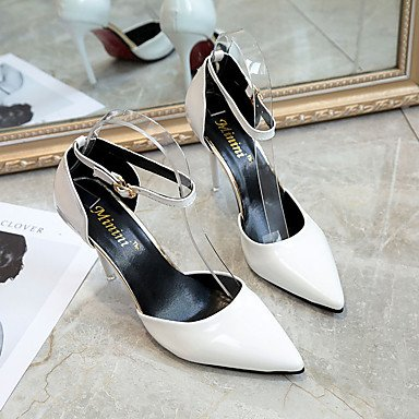 White Bowknot Heel Stiletto Comfort UK4 Grey Black Light US6 Women'sHeels Rhinestone Almond PU CN36 Summer Red Outdoor Walking EU36 xOCW0f