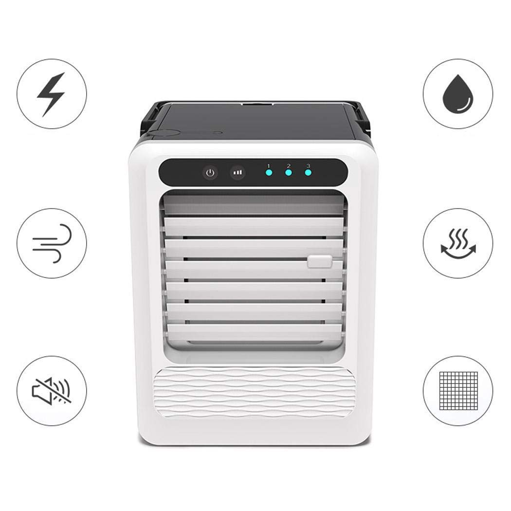 salver Portable USB Interface Button Control Desktop Air Cooler Home Office Fan Personal Fans