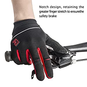 Zookki Work Gloves,Full finger-Black,M(6.7inches-7.9inches)