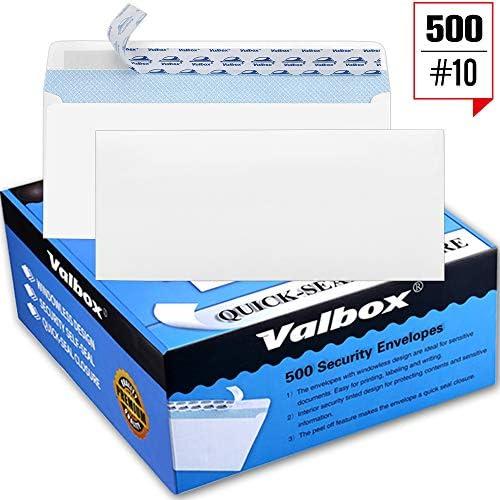 ValBox Security Self Seal Envelopes Windowless