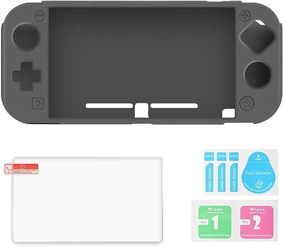AFAITH Carcasa para Nintendo Switch Lite,Silicona Funda(Negro ...