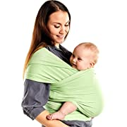Boba Baby Wrap Carrier Bamboo, Nile Green - The Original Child and Newborn Sling, Perfect for Infants and Babies up to 35 lbs (0-36 Months)
