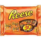 REESE Peanut Butter Cups, Halloween Chocolate Candy, 30 Count, 468 Gram