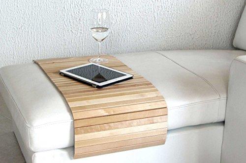 Moebelhome Sofatablett Holz Gross 100cm Ablage Tablett Birke