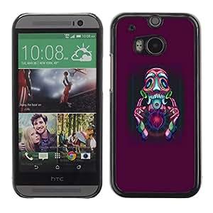 // PHONE CASE GIFT // Duro Estuche protector PC Cáscara Plástico Carcasa Funda Hard Protective Case for HTC One M8 / Resumen Psycho /