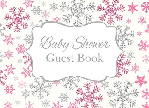 Baby Shower Guest Book: Pink Baby It's Cold Outside Advice for Parents and Gift Log ()