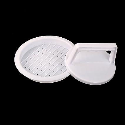Amazon.com: Forma eDealMax plástico redondo de bricolaje manual hacer el molde del molde de la hamburguesa de la carne blanca Barra de Herramientas: Kitchen ...