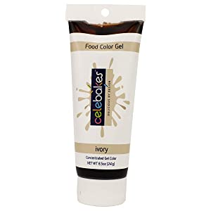 Celebakes by CK Products Ivory Food Color Gel, 8.5 oz Tube