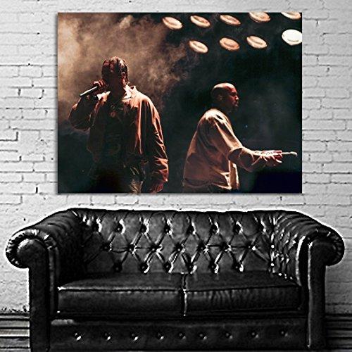 SDK mural #45 Poster Kanye West Travis Scott Performance Concert 40x54 inch (100x135 cm) 8mil Paper