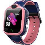 Kids Waterproof Smart Watch Phone, GPS/LBS Tracker Smart Watch for Kids for 3-12 Year Old Compatible iOS Android Smart…