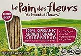 Les Pain des Fleurs Crispbread, Ancient Grain, 4.4 Ounce