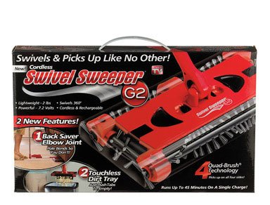 (Swivel Cordless Floor and Carpet Sweeper)