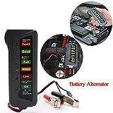 Clothful  12V Car Digital Battery Alternator Tester 6 LED Lights Display Diagnostic Tool