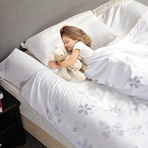 Modvel [1-Pack] Toddler Bed Bumper Rail Guard - Comfortable Hypoallergenic Foam for Toddlers, Boys, Girls - Great Child Safety Product - Water Resistant Design. (MV-109)