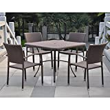 Barcelona Contemporary Resin Wicker Patio Chair Set Review