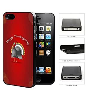 Happy Thanksgiving Turkey With Red Background iPhone 4 4s Hard Snap on Plastic Cell Phone Case Cover