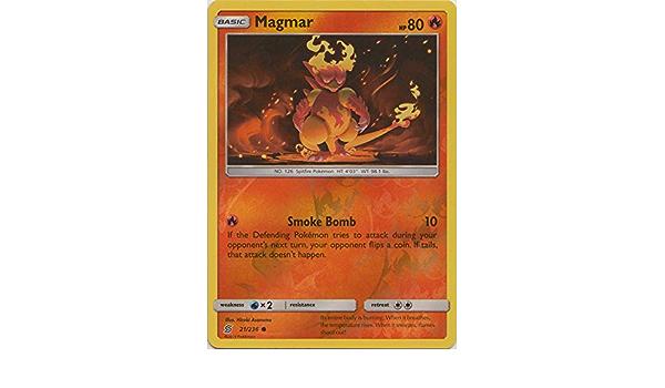 x4 Magmar 21//236 Common Pokemon SM11 Unified Minds M//NM English