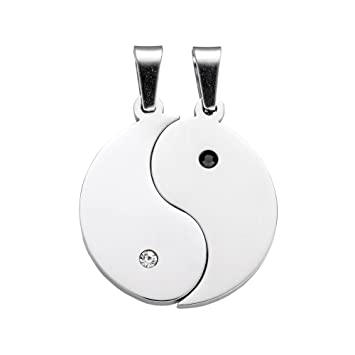 f4d27e23f01a Collares para parejas – Yin y Yang – Estándar – Set de regalo para  enamorados y