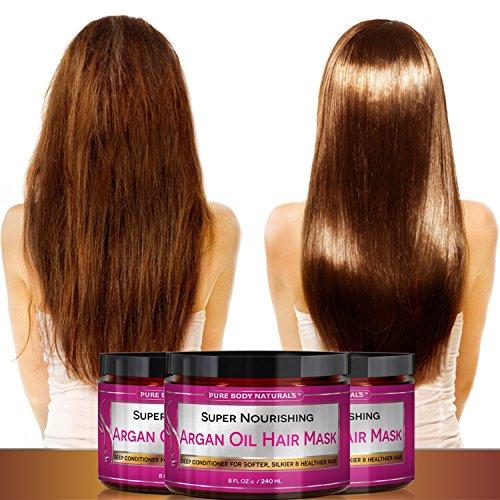 Amazon.com : Mascarilla Para El Cabello Con Aceite De Argan - Tratamiento Natural - 8 Onzas : Beauty