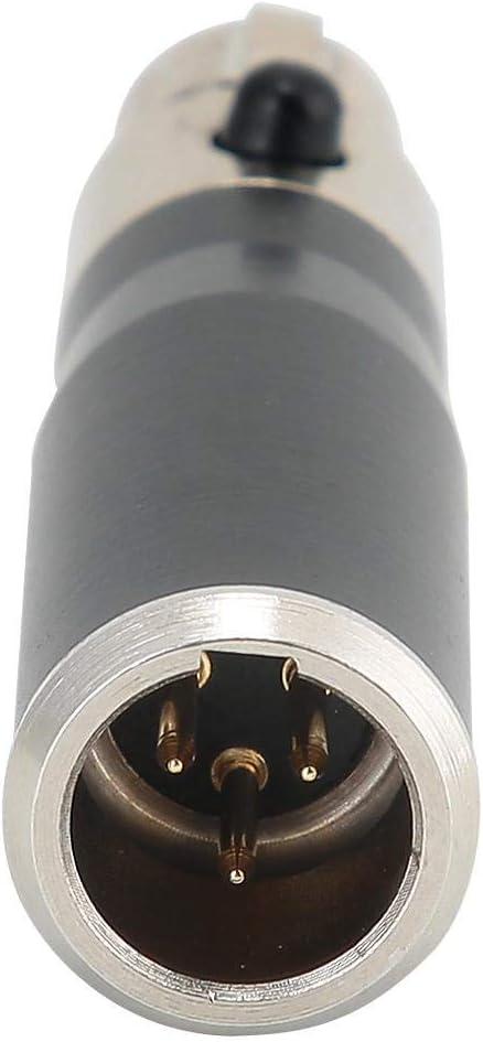 Microphone Serounder 2PCS Mini XLR 3pin Male to Mini XLR 4pin Female Zinc Alloy Casing Audio Adapter Connector Converter for SLR DSLR Digital Camera