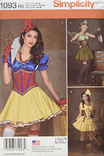 [SIMPLICITY 1093 Misses' Cosplay Costumes Sewing Template, Size R5 (14-16-18-20-22)] (Cosplay Costume Making)