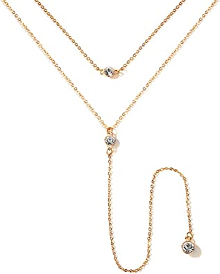 Long Sequin Pendants Tassels Necklace Gold and Silver Color Tassels Necklace Sequin Pendant with Thin Long Chain
