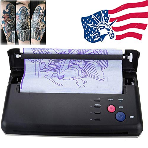Funwill Shipping from USA Complete Tattoo Kit for Beginners Power Supply Kit Pro Black Recording Transfer Speed Copier Printer Machine Thermoprinter Thermal Stencil Paper Maker Fast Black Portable