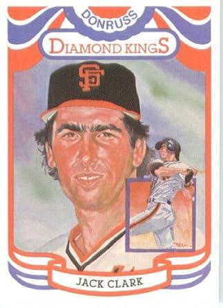 Amazoncom 1984 Donruss Diamond King Baseball Card 7 Jack Clark