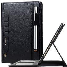 iPad Mini Case for iPad Mini 4/3/2/1,Premium PU Leather Case Tablet Smart Stand Case Slim Fit Cover with Card Slot and Hand Strap for iPad Apple Mini,Mini 2,Mini 3,Mini 4 (Black)