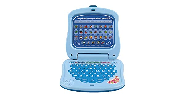 Amazon.com : Pasaca Toys Kids Spanish Learning Laptop, My First ...