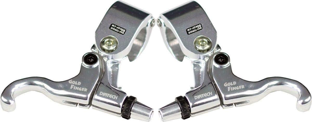 "DiaTech Dirt Harry Tech-99D 1/"" Hinged BMX Brake Lever Black//Black Left side"