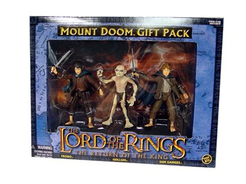 Lord of the Rings Action Figure 3-Pack FRODO GOLLUM SAM GAMGEE - Mount Doom Gift Pack by ToyBiz