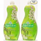 Palmolive Soft on Hands & Soft on Nails Utra Green Apple Scent Dishwashing Liquid Soap Detergent, 25 Oz Twin Pack, (25 Oz x 2, Total 50 Oz)