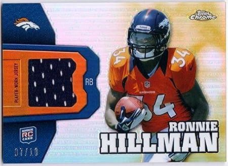 Amazon.com: RONNIE HILLMAN 2012 Topps Chrome Rookie Relic Gold ...