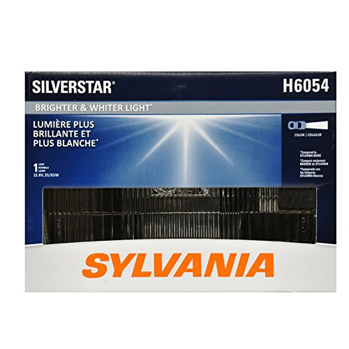 SYLVANIA - H6054 SilverStar Sealed Beam Headlight - High Performance Halogen Headlight Replacement (142x200), Brighter & Whiter Light for Added Clarity Downroad and Sideroad, (Contains 1 Bulb) ()