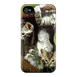 Four Kittens In A Basket Case Compatible With Iphone 4/4s/ Hot Protection Case