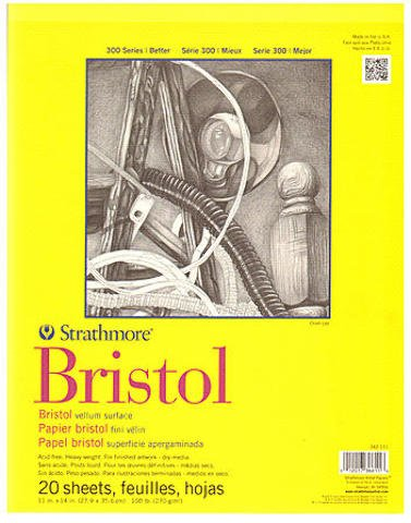Strathmore 300 Series Bristol (Vellum) - 11 In. x 14 In. 1 pcs sku# 1829767MA