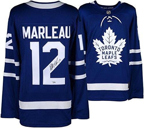 Autographed Authentic Away Jersey - Patrick Marleau Toronto Maple Leafs Autographed Blue Fanatics Breakaway Jersey - Fanatics Authentic Certified