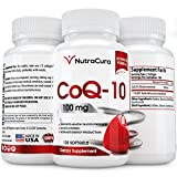 NutraCura COQ10 100mg Supplement - 120 Softgels - Co Q 10 Promotes a Healthy Heart - coq 10 Helps Blood Pressure & Brain Function - Q10 Combats Signs of Aging - co-q-10 Antioxidant - Made in the USA