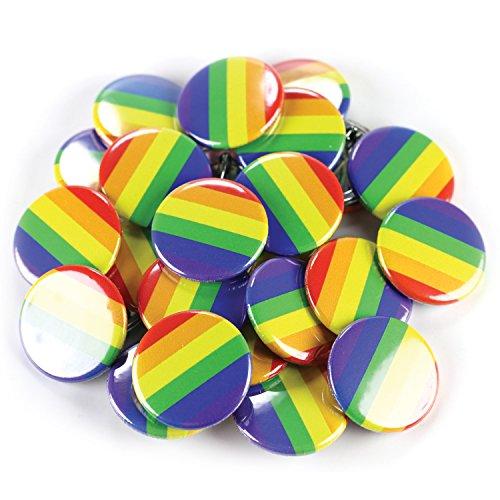 Buttonsmith Rainbow Flag 1.25