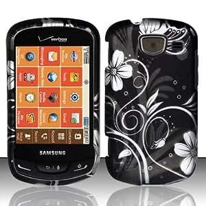 MIDNIGHT GARDEN Hard Plastic Design Matte Case for Samsung Brightside U380 (Verizon) [In Twisted Tech Retail Packaging]