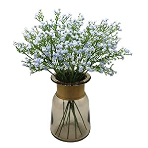 Anatural Artificial Flowers, Fake Flowers Babys Breath Gypsophila Flowers Steam Bouquet for Wedding Party Home Garden Table Centerpieces Decorations 10pcs 15.7 Inches 15