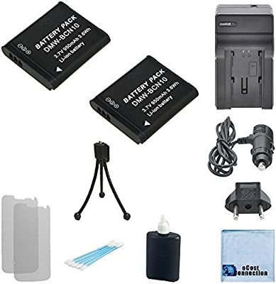 2 DMW-BCN10 Li-Ion Batteries for Panasonic Lumix DMC-LF1