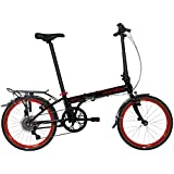 Dahon Speed D7 Street 20 7 Speed Folding Bicycle (Black/Red)