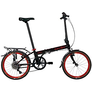 Dahon Speed D7 Street 20 7 Speed Folding Bicycle Black Red
