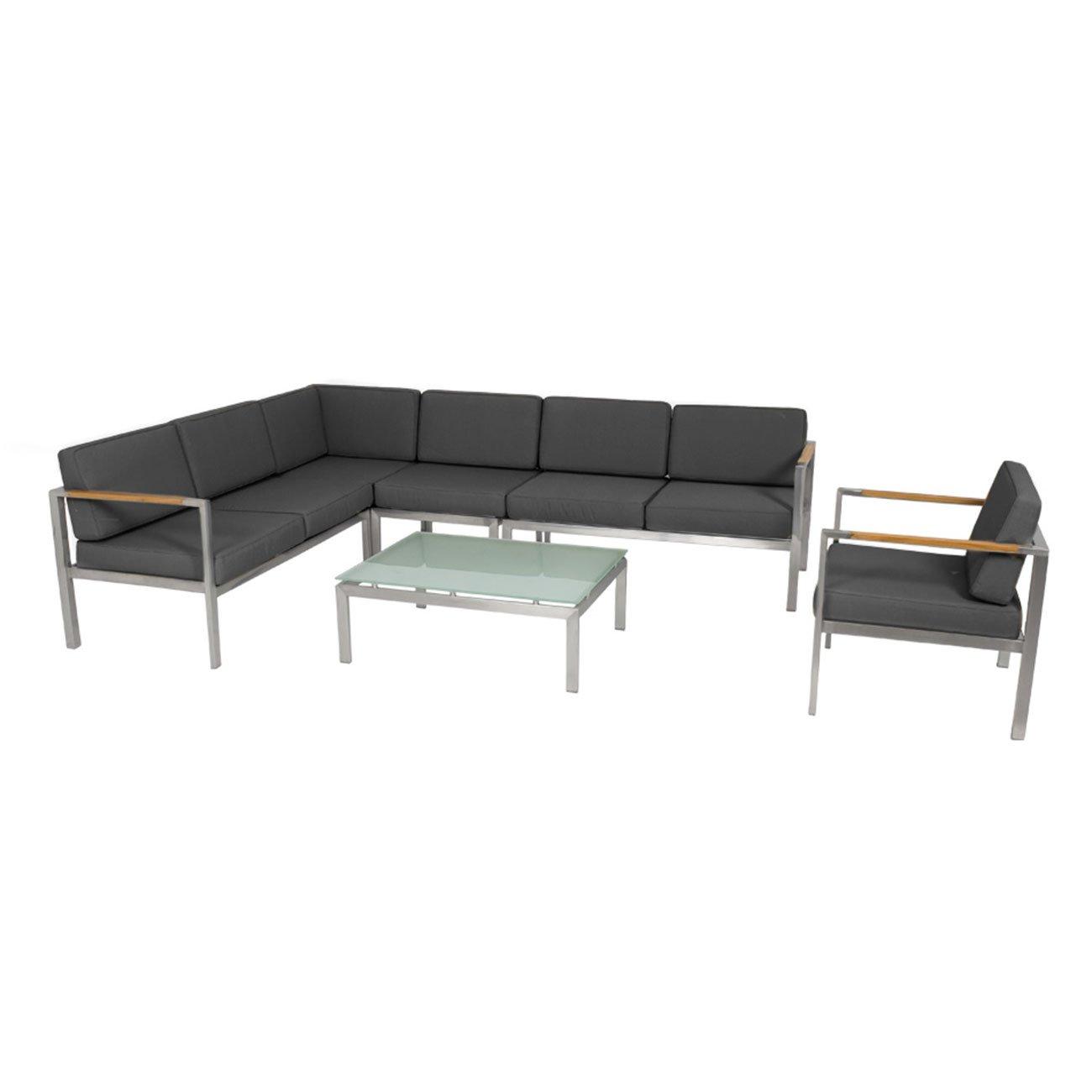 Gartenlounge Outliv Maestro Loungegruppe 6tlg Schwarz 700973