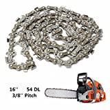 16 Inch 54 Drive Substitution Chainsaw Saw Mill Chain 3/8 Inch Links Pitch 050 Gauge husqvarna chainsaw mill ripping chain worx parts greenworks