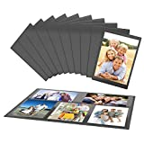 UnityStar 10-Pack 4x6 Magnetic Picture Frames for Refrigerator Black with 1 Collage Photo Frame, Holds 15 Pcs 4x6 Photos in Total