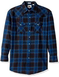 Men's Tall Size Long Sleeve Brawny Flannel Shirt